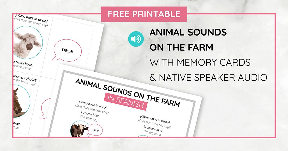 Free Printable Animal Farm Sounds