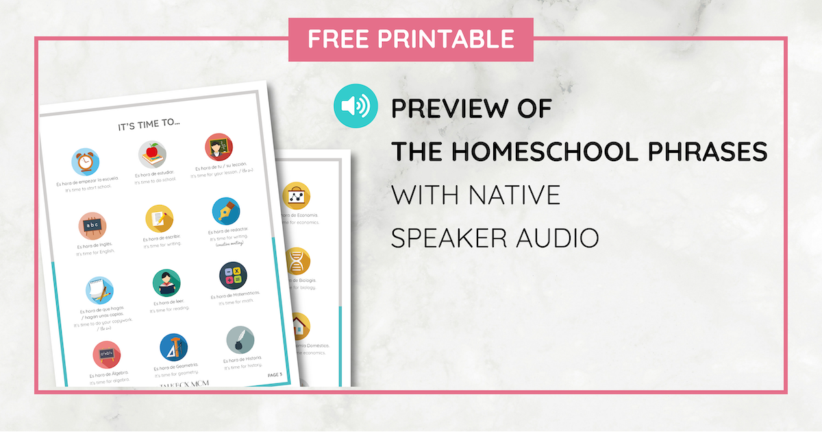 Free Foreign Language Homeschool Phrases