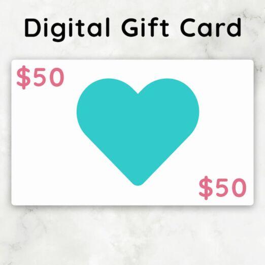 $50 TalkBox.Mom Digital Gift Card