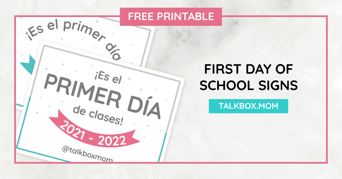 First Day of School 2021 blog cover_Free Printable First Day of School Signs