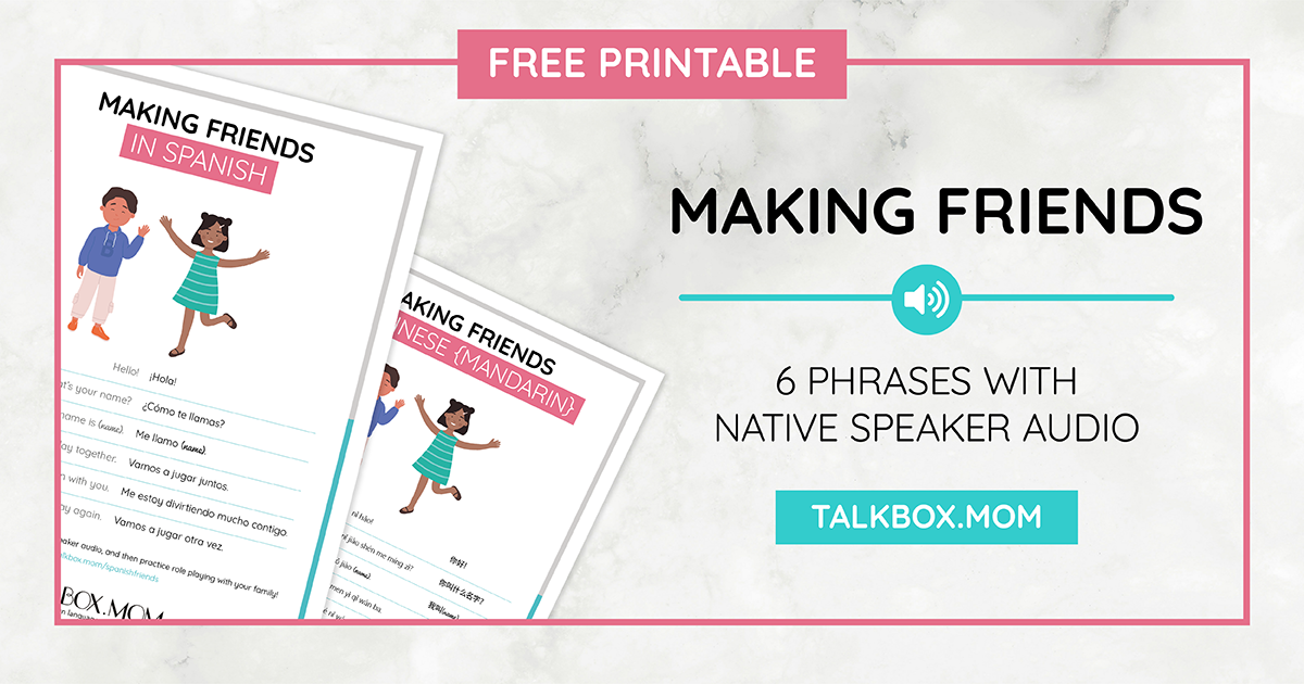 Making Friends Printable_All Languages