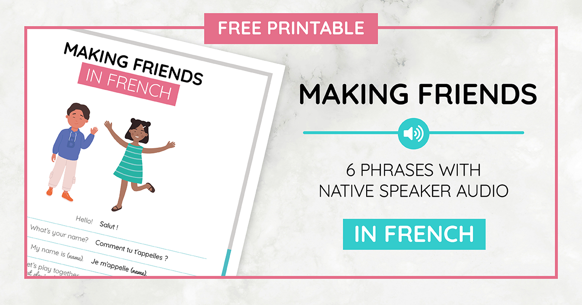 Making Friends Printable_French