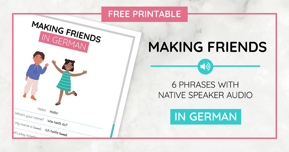 Making Friends Printable_German