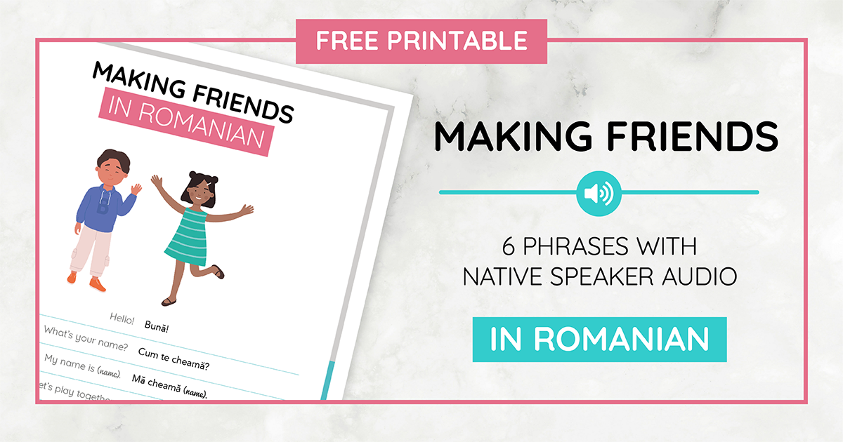 Making Friends Printable_Romanian
